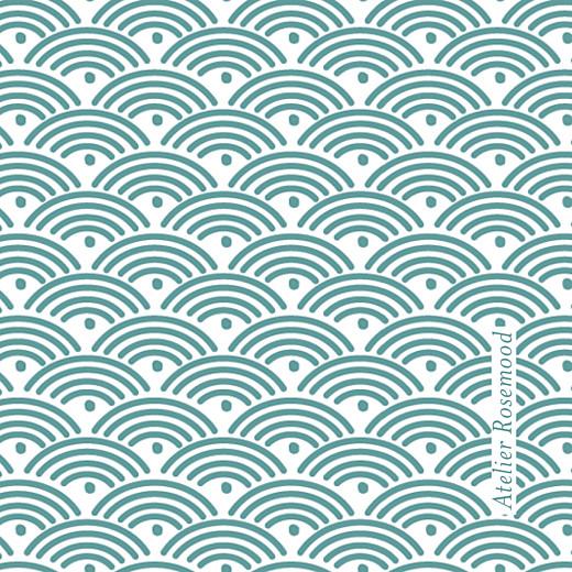 Etiquette de baptême Pattern turquoise - Page 2