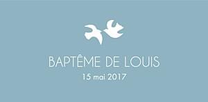Marque-place Baptême Oiseaux bleu