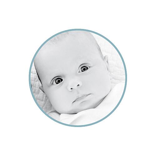 Faire-part de naissance Voiture médaillons 2 photos bleu