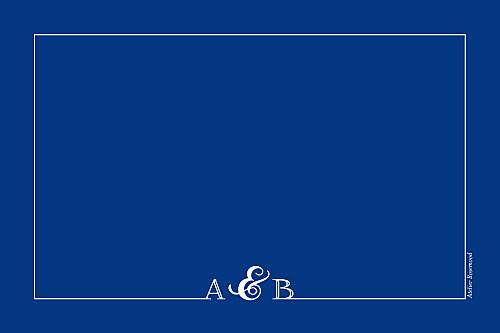Marque-table mariage Classique liseré bleu - Page 2
