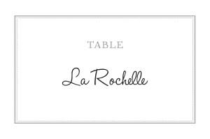 Marque-table mariage Classique blanc