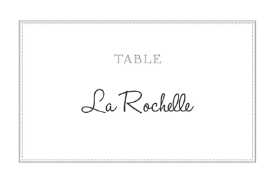 Marque-table mariage Classique blanc finition