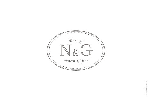 Marque-table mariage Classique blanc - Page 2