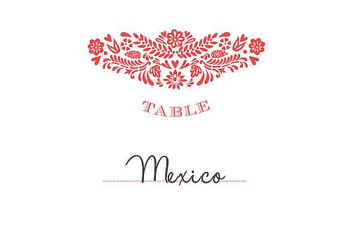 Marque-table mariage Papel picado corail