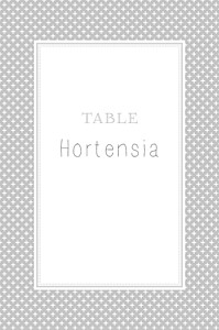 Marque-table mariage Motif chic gris