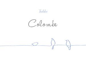 Marque-table mariage Oiseaux bleu