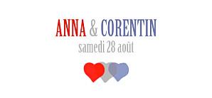 Etiquette de mariage Paris bleu-rouge-gris