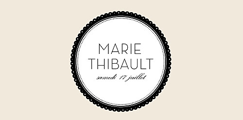Marque-place mariage Boudoir beige noir - Page 4