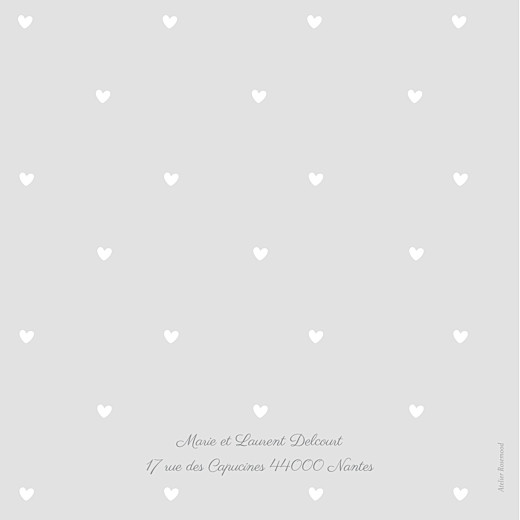Faire-part de naissance Bucolique photo (4 pages) gris rose - Page 4