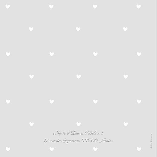 Faire-part de naissance Bucolique photo (4 pages) gris rose