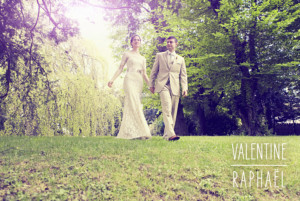 Carte de remerciement mariage Toi & moi (paysage) blanc