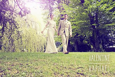 Carte de remerciement mariage Toi & moi (paysage) blanc finition
