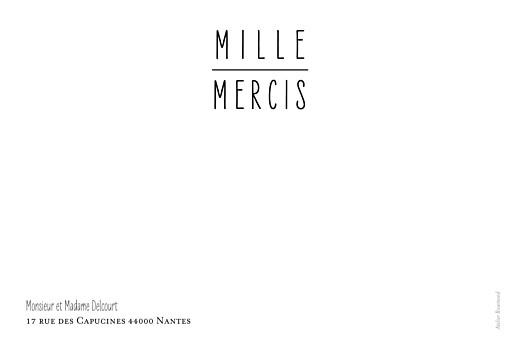 Carte de remerciement mariage Toi & moi (paysage) blanc - Page 2