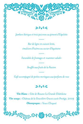 Menu de baptême Papel picado (4 pages) turquoise - Page 3