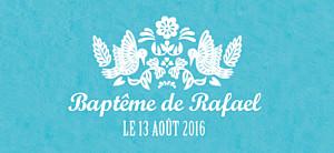 Etiquette de baptême Papel picado turquoise