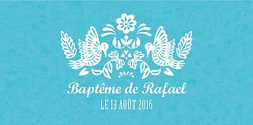Marque-place Baptême Papel picado turquoise - Page 4