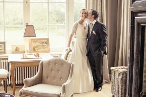 Carte de remerciement mariage Plein la vue paysage (3 photos) blanc