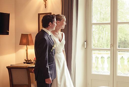 Carte de remerciement mariage Plein la vue paysage (3 photos) blanc - Page 2