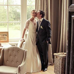 Carte de remerciement mariage Plein la vue (3 photos) blanc
