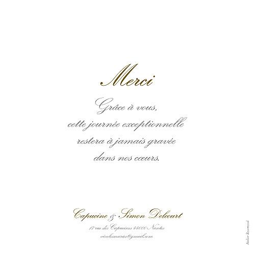 Carte de remerciement mariage Plein la vue (3 photos) blanc - Page 3