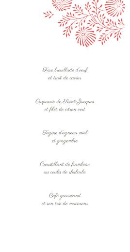 Menu de mariage Idylle corail - Page 3