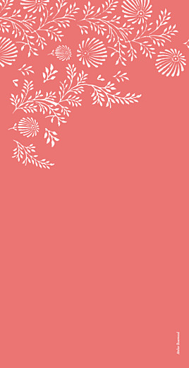 Menu de mariage Idylle corail - Page 4