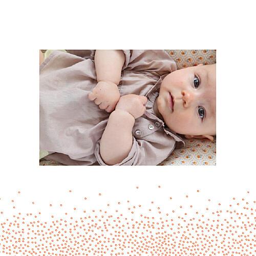 Faire-part de naissance Éveil photo corail