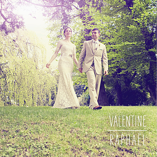 Carte de remerciement mariage Toi & moi blanc