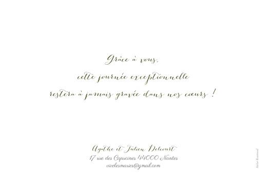 Carte de remerciement mariage Un grand merci (paysage) blanc - Page 2