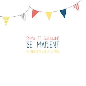 Faire-part de mariage marguerite courtieu guinguette pop