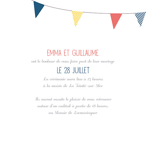 Faire-part de mariage Guinguette pop - Page 3
