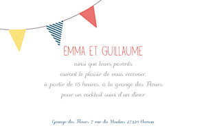 Carton d'invitation mariage Guinguette pop