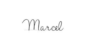 Marque-place mariage Guinguette pastel
