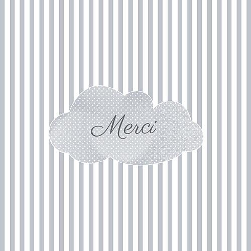 Carte de remerciement Merci tombe la pluie gris