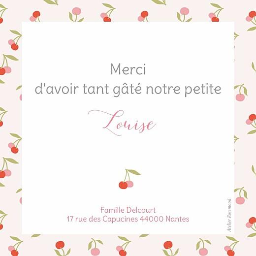 Carte de remerciement Petites cerises photo rouge