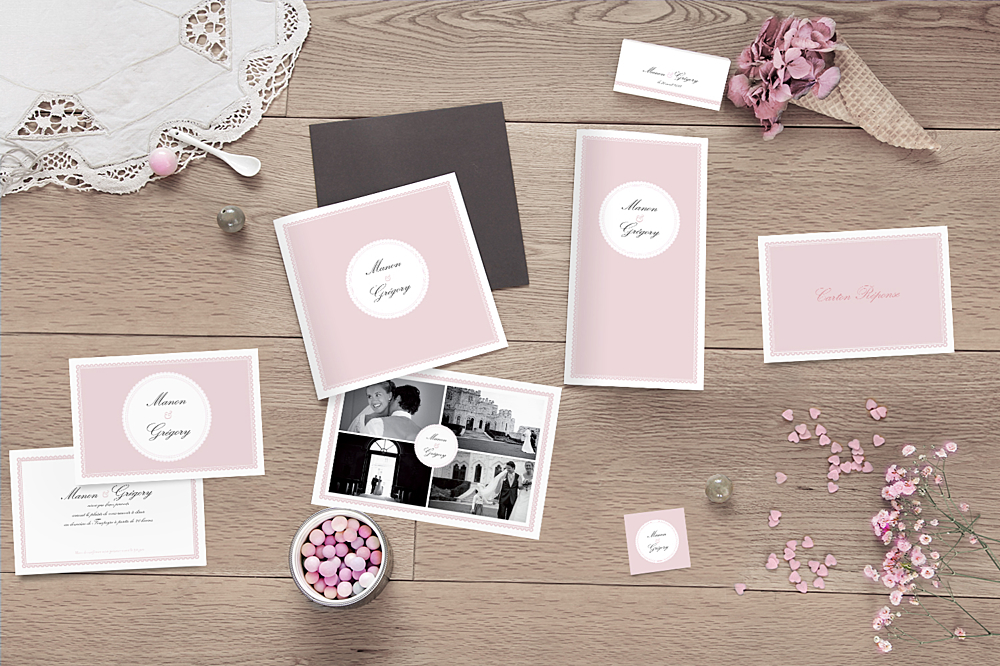 carte de remerciement mariage gourmand 4 photos atelier rosemood. Black Bedroom Furniture Sets. Home Design Ideas