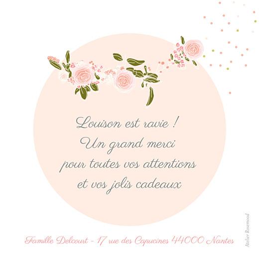 Carte de remerciement Merci bucolique gris rose - Page 2