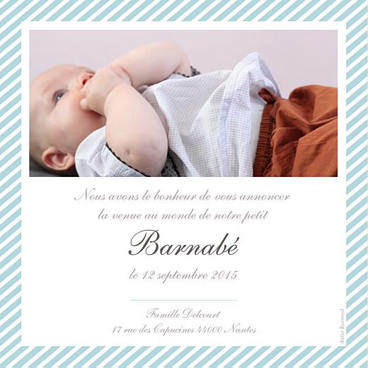 Faire-part de naissance Cambridge photo bleu - Page 2