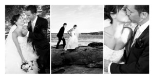 Carte de remerciement mariage 3 photos (panoramique) blanc