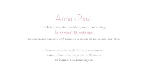 Faire-part de mariage Cœurs panoramique gris pâle - Page 3