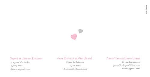 Faire-part de mariage Cœurs panoramique gris pâle - Page 4