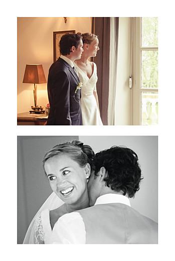 Carte de remerciement mariage Plein la vue portrait (4 photos) blanc - Page 2