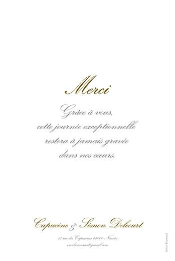 Carte de remerciement mariage Plein la vue portrait (4 photos) blanc