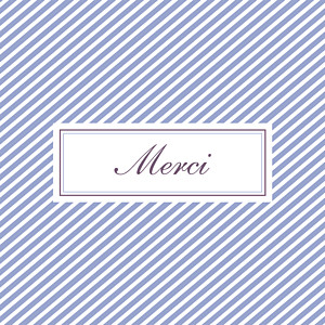 Carte de remerciement Merci cambridge violet