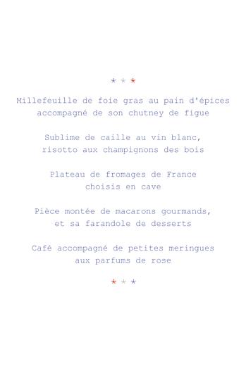 Menu de mariage Paris (4 pages) bleu gris rouge - Page 3