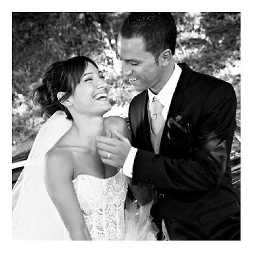 Carte de remerciement mariage Cage à oiseaux photo rouge - Page 2