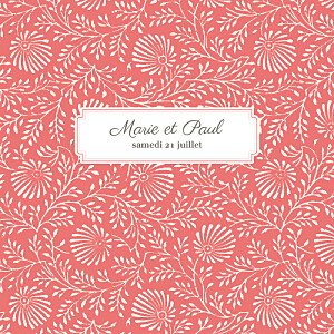 Faire-part de mariage orange idylle (4 pages) corail