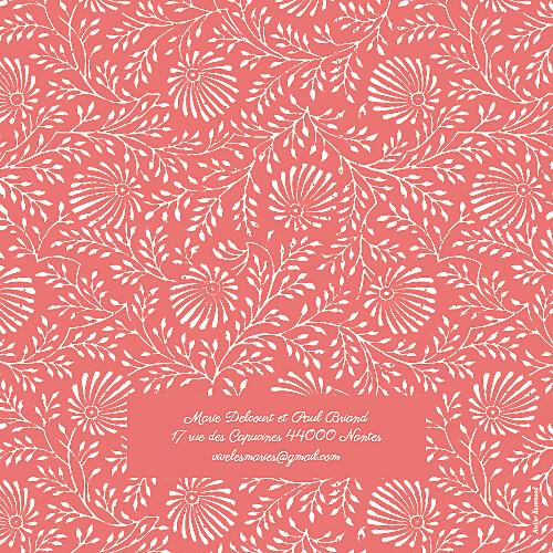 Faire-part de mariage Idylle (4 pages) corail