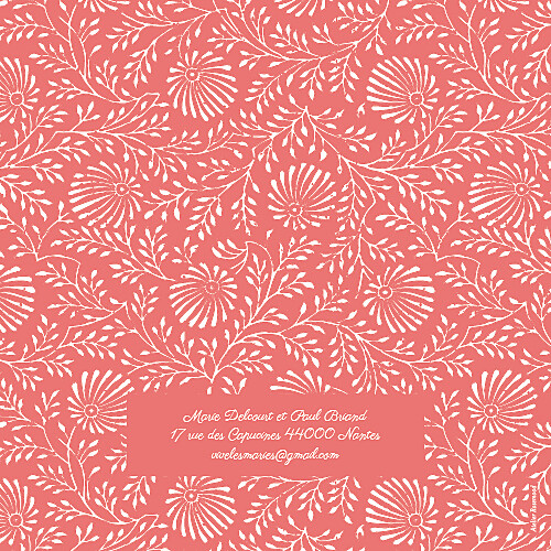 Faire-part de mariage Idylle (4 pages) corail - Page 4