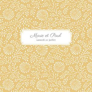 Faire-part de mariage mr & mrs clynk  idylle (4 pages) pollen
